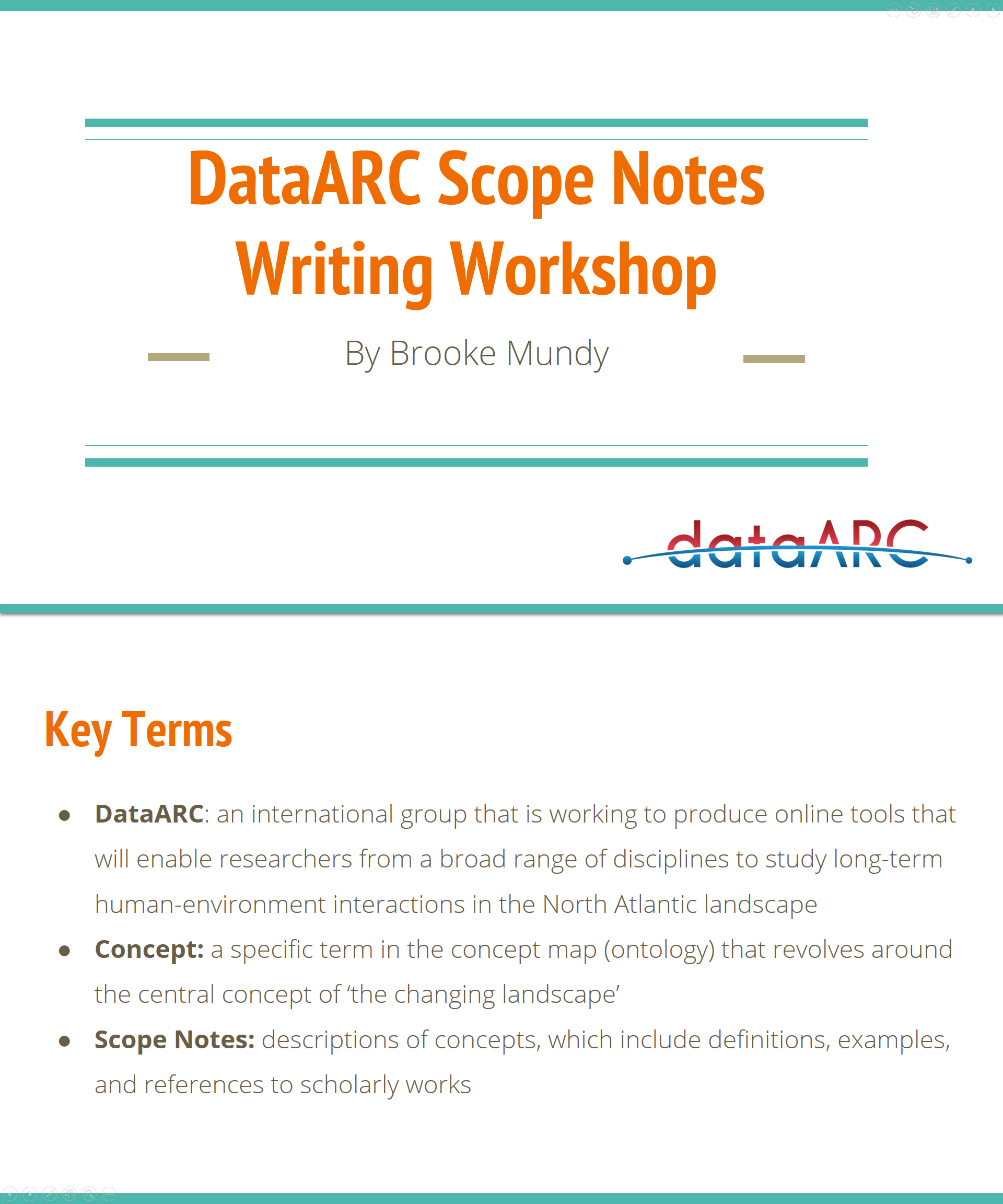 Scope Notes Writing Workshop