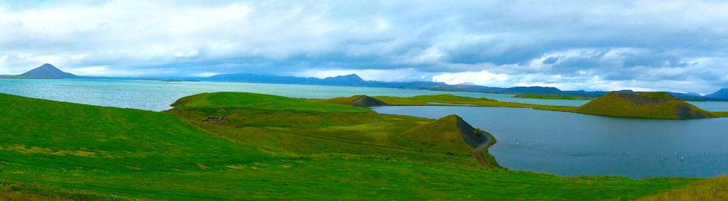 Panorama of Lake Myvatn